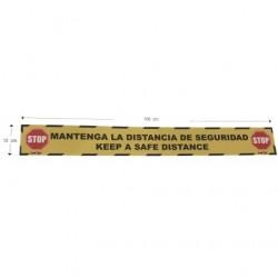 "VINILO ADHE. 100 X 12 CM ""MANTENGA DIST."