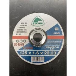 STAYER DISCO INOX STANDARD 125X1,6X22.2